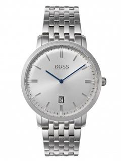 Hugo Boss 1513537 Tratn Uhr Herrenuhr Edelstahl Datum Silber