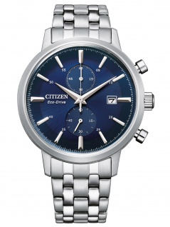 Citizen CA7060-88L Eco Drive Chronograph Uhr Herrenuhr Datum silber