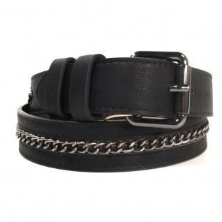 Pieces Damengürtel 17067312-1 RAPUNZEL Chain Jeans Belt Schwarz 80 cm