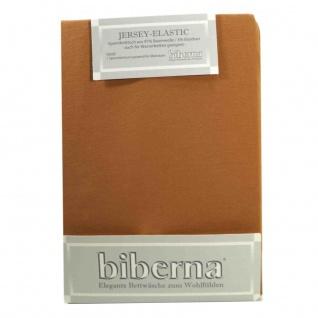 Biberna 77866-551 Jersey Elastic Spannbetttuch Karamell 90x190 100x220