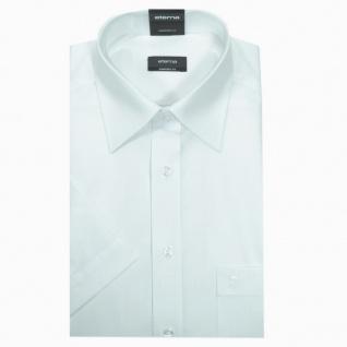 Eterna Herrenhemd Kurzarm Comfort Fit Weiß Gr. L/41