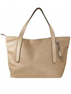 Esprit Damen Handtasche Tasche Henkeltasche Ruby shopper Grau