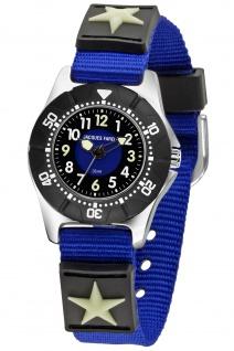 JACQUES FAREL KWD2000 Stern Uhr Junge Kinderuhr Textil blau