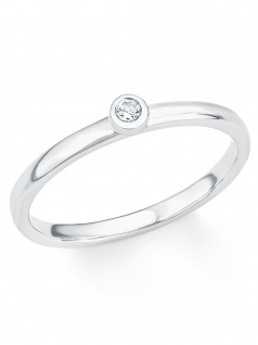 s.Oliver 2017206 Damen Ring Sterling-Silber 925 Silber Weiß 56 (17.8)