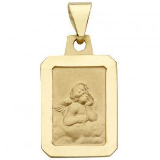 Basic Gold EN33 Kinder Anhänger Schutzengel 14 Karat (585) Gelbgold