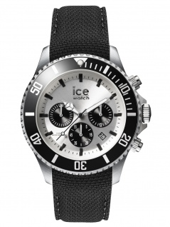 Ice-Watch 016302 Ice Steel Chrono Herrenuhr Kautschuk Datum Schwarz