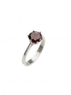 Gerry Eder 53.9068 Damen Ring Sterling-Silber 925 Silber Rot 57 (18.1)