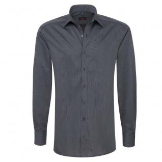 Eterna Herrenhemd Langarm Modern Fit Schwarz Gr. XL/43 4610/38/X177