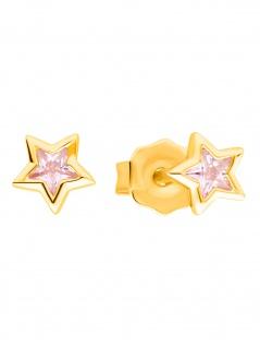 Prinzessin Lillifee 2029715 Mädchen Ohrstecker Stern Gold Rosa