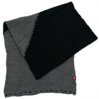 Esprit Schal BLOCK SHAWL Grau-Schwarz K48301-012 Strick Winter 174 cm