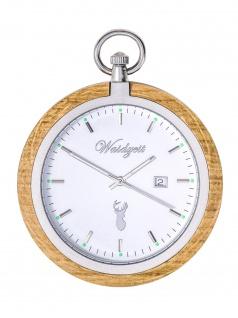 Waidzeit YT01 Taschenuhr Barrique Bacchus Uhr Herrenuhr Holz Datum