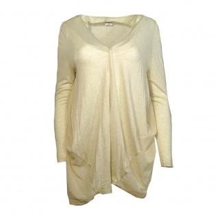 Vero Moda Damen Jersey Jacke ANNIKA L/S Long Cardigan Beige Gr. S