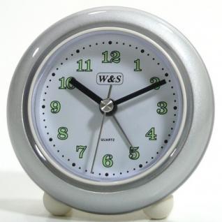 W&S 200100 Wecker Uhr silber-weiß Analog Alarm