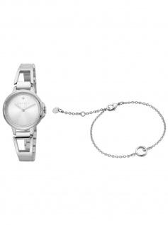 Esprit ES1L146M0045 Brace Silver SET Uhr Damenuhr Edelstahl silber