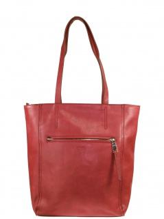 Esprit Damen Handtasche Tasche Henkeltasche Tori Shopper Leder Rot