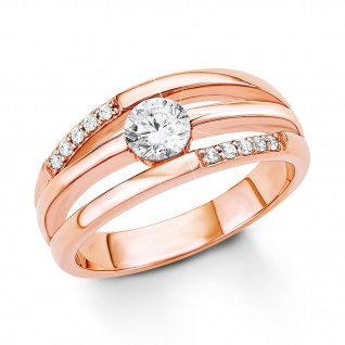 s.Oliver 9033522 Damen Ring Sterling-Silber 925 Rose Weiß 58 (18.5)