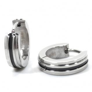 Basic Silber ECR05 Herren Creolen Edelstahl