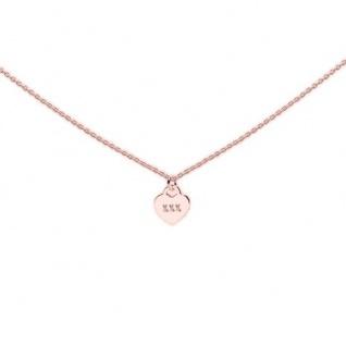 heart to get N276LOH16R Damen Collier Herz Silber rosé 44 cm