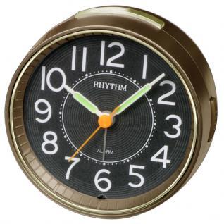 RHYTHM CRE850WR06 Wecker Uhr Alarm Schwarz