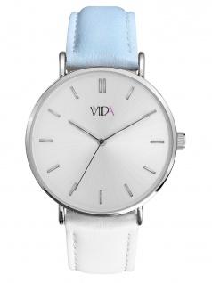 laVIIDA WVI2021S Vienna Uhr Damenuhr Lederarmband Weiß