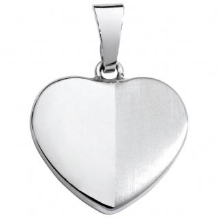 Basic Silber SL24 Damen Anhänger Herz Silber