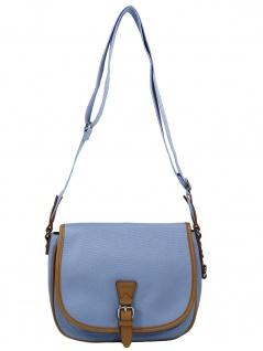 Esprit Damen Handtasche Tasche Susie T Canvas Blau 040EA1O335-440