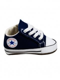 Converse Baby Kinder Schuhe CT All Star Cribster Mid Blau Leinen 18 EU