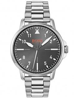 Boss Orange 1550064 CHICO Uhr Herrenuhr Lederarmband Silber