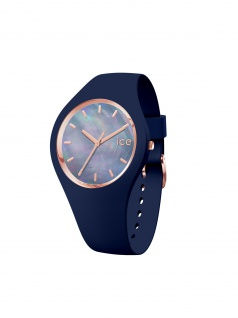 Ice-Watch 016940 ICE pearl twilight small Uhr Damenuhr Kautschuk Blau