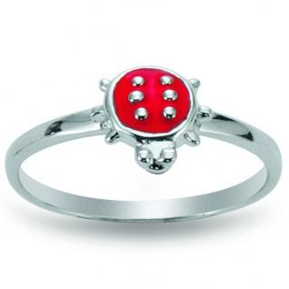 Basic Silber 53.KS102 Mädchen Ring Marienkäfer Silber 49 (15.6) rot