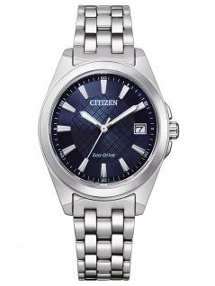 Citizen EO1210-83L Eco Drive Uhr Damenuhr Edelstahl Datum silber
