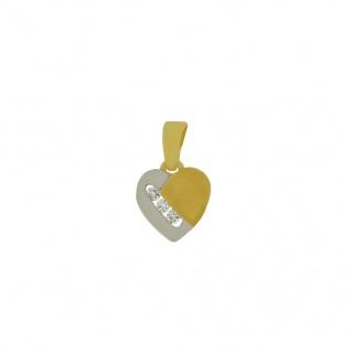 Basic Gold HZ13 Damen Anhänger Herz 14 Karat (585) Bicolor Gold