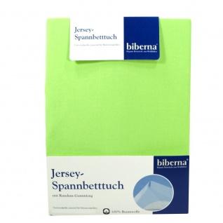 Biberna 77155-477-087 Jersey Spannbetttuch Hellgrün 180x200 - 200x200