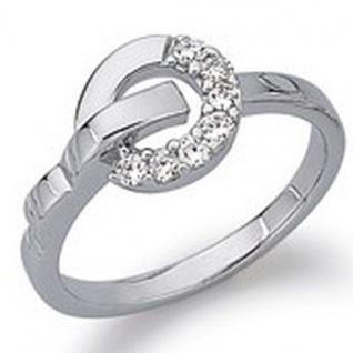 GOOIX 943-3088 Damen Ring Silber mit Zirkonia weiß Größe 54 (17, 2 mm)