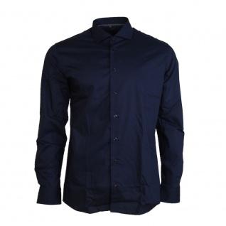 Eterna Herrenhemd Langarm 8585/19/F182 Hemd Slim Fit Blau M/40