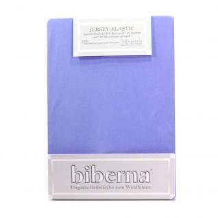 Biberna 77866 Jersey Elastic Spannbetttuch Mittelblau 180x200 200x220