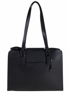 Esprit Damen Handtasche Tasche Henkeltasche Ida small shopper Schwarz