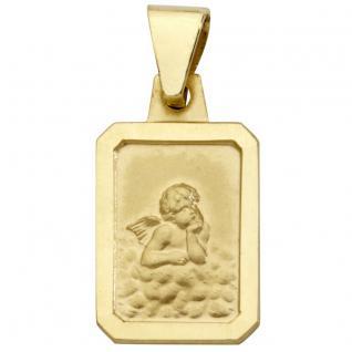 Basic Gold EN34 Kinder Anhänger Schutzengel 14 Karat (585) Gelbgold