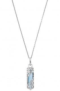 Engelsrufer ERN-HEAL-BA-M Damen Collier Powerful Stone M Blau 60 cm