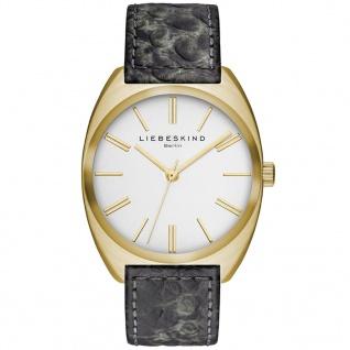 LIEBESKIND LT-0013-LQ Uhr Damenuhr Lederarmband grau