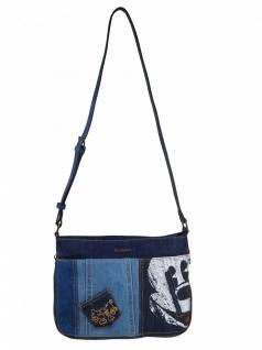 Desigual Handtasche Tasche Schultertasche EXOTIC MICKEY BAQUEIRA Blau