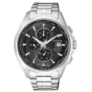 Citizen AT8130-56E Eco-Drive Uhr Herrenuhr Titan Datum Silber