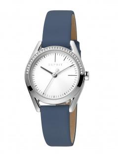 Esprit ES1L117L0015 Lock Stones Set Uhr Damenuhr Lederarmband Blau
