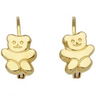 Basic Gold KI02 Mädchen Ohrringe Bär 14 Karat (585) Gelbgold