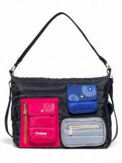 Desigual Damen Handtasche Tasche Henkeltasche MAGIC MEMPHIS Blau