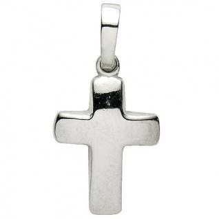 Basic Silber 27.9145S Damen Anhänger Kreuz Silber