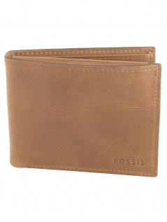 Fossil Herren Geldbörse Derrick Passcase RFID Leder Braun ML3771-200