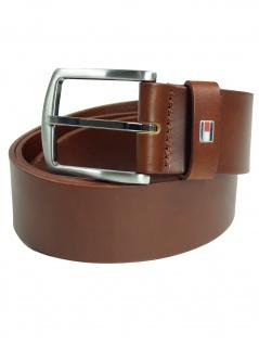 Tommy Hilfiger Herren Gürtel New Denton Belt Tan Leder 125cm Braun