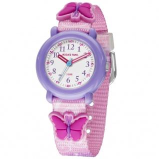 JACQUES FAREL KPA9002 Schmetterling Uhr Mädchen Kinderuhr rosa
