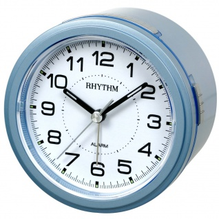 RHYTHM CRE867NR04 Wecker Uhr Alarm Weiss